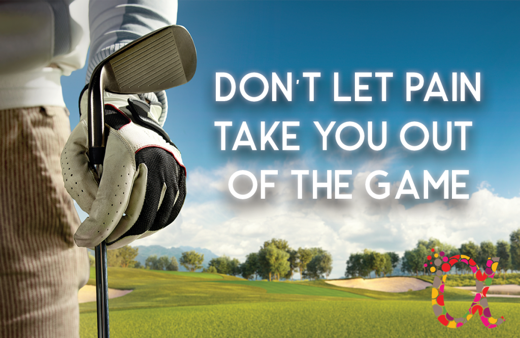 Don't let pain take you out of the game. Chiropractic Care for Golfers Treats Repetitive Stress Golf Injuries
