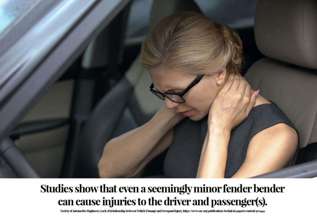 Minor car accidents can cause serious injuries