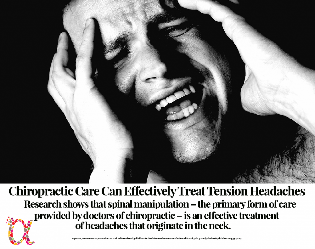 Research shows that spinal manipulation is an effective treatment of tension headaches that originate in the neck.