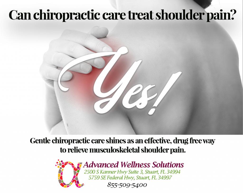 Chiropractic care treats shoulder pain