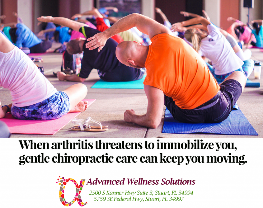 When arthritis threatens to immobilize you, gentle chiropractic care can keep you moving.